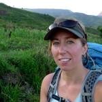 Sarah hiking... before it got dark.